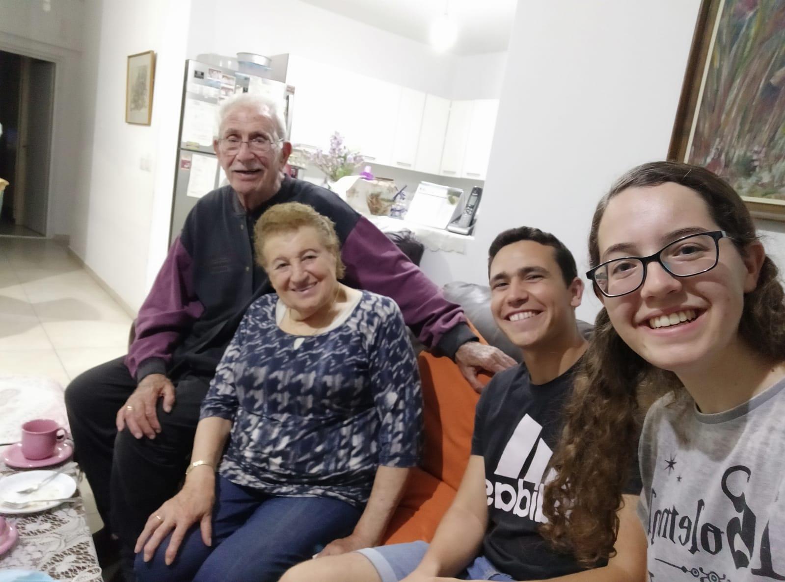 Volunteers with seniors